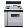 Premier 36-in 4-Burner Freestanding 3.9 cu ft Gas Range (White with Black Trim)