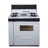Premier 36-in 5-Burner Freestanding 3.9 cu ft Gas Range (White with Black Trim)