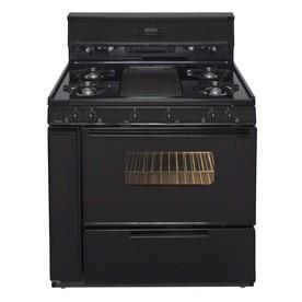 Premier 5-Burner Freestanding 3.9-cu ft Gas Range (Black) (Common: 36; Actual: 36-in)