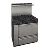 Premier 36-in 6-Burner Freestanding 3.9 cu ft Gas Range (Stainless Steel)