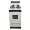 Premier Freestanding 2.4-cu ft Gas Range (Biscuit with Black Trim) (Common: 20-in; Actual: 20.125-in)