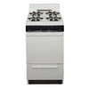 Premier 20-in 4-Burner Freestanding 2.4 cu ft Gas Range (Biscuit with Black Trim)