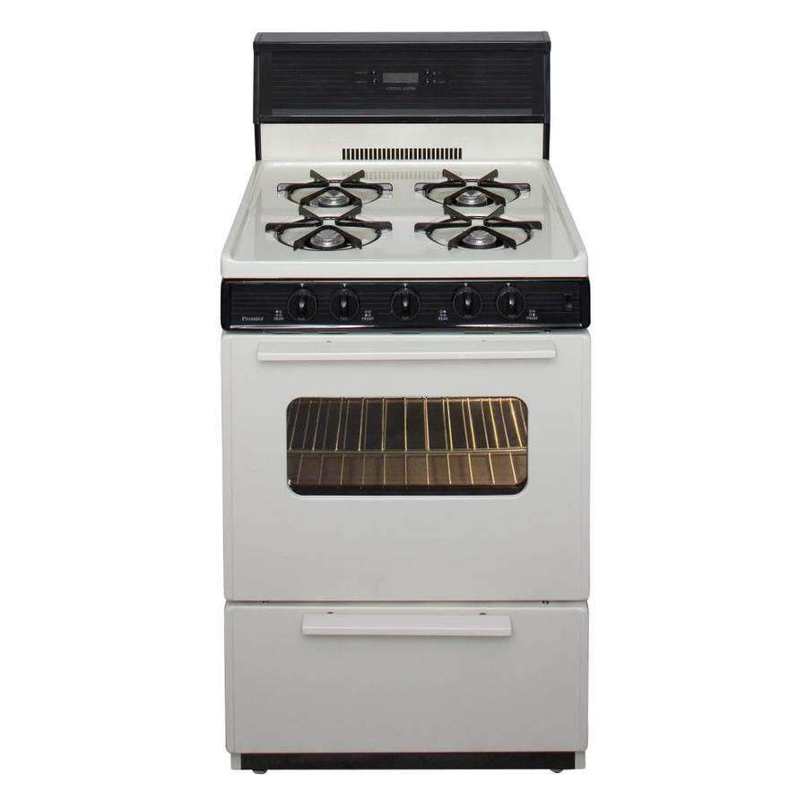 Shop Premier Freestanding 2 9 Cu Ft Gas Range Biscuit