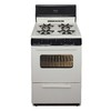 Premier 24-in 4-Burner Freestanding 2.9 cu ft Gas Range (Biscuit with Black Trim)