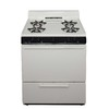 Premier 30-in 4-Burner Freestanding 3.9 cu ft Gas Range (Biscuit with Black Trim)