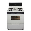 Premier 30-in 5-Burner Freestanding 3.9 cu ft Gas Range (Biscuit with Black Trim)