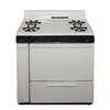 Premier 36-in 4-Burner Freestanding 3.9 cu ft Gas Range (Biscuit with Black Trim)