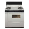 Premier Freestanding 3.9-cu ft Gas Range (Biscuit with Black Trim) (Common: 36; Actual: 36-in)
