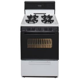 Premier Freestanding 2.9-cu ft Gas Range (White with Black Trim) (Common: 24-in; Actual: 24-in)