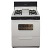 Premier Freestanding 3.9-cu ft Gas Range (Biscuit with Black Trim) (Common: 30-in; Actual: 30-in)