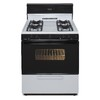 Premier Freestanding 3.9-cu ft Gas Range (White with Black Trim) (Common: 30-in; Actual: 30-in)