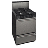 Premier Freestanding 2.9-cu ft Gas Range (Stainless Steel) (Common: 24-in; Actual: 24-in)
