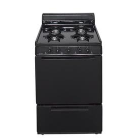 Premier 24-in 4-Burner Freestanding 2.9 cu ft Gas Range (Black)