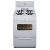Premier 24-in 4-Burner Freestanding 2.9 cu ft Gas Range (White on White)