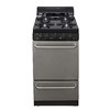 Premier 20-in 4-Burner Freestanding 2.4 cu ft Gas Range (Stainless Steel)