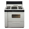 Premier 36-in 5-Burner Freestanding 3.9 cu ft Gas Range (Biscuit with Black Trim)