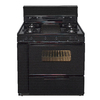 Premier 36-in 5-Burner Freestanding 3.9 cu ft Gas Range (Black)