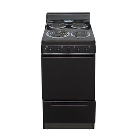 Premier Freestanding 2.4-cu ft Electric Range (Black) (Common: 20-in; Actual: 20.12-in)