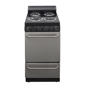 Premier 20-in Freestanding 2.4 cu ft Electric Range (Stainless Steel)