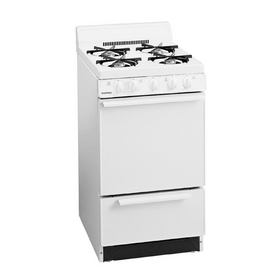 Holiday Freestanding 2.4-cu ft Gas Range (White) (Common: 20; Actual: 20.12-in)