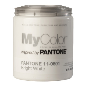 MyColor inspired by PANTONE 35-fl oz Interior Eggshell Bright White Water-Base Paint and Primer in One