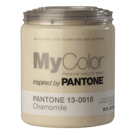 MyColor inspired by PANTONE 35 fl oz Interior Eggshell Chamomile Paint and Primer in One