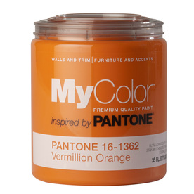 MyColor inspired by PANTONE 35-fl oz Interior Eggshell Vermillion Orange Water-Base Paint and Primer in One