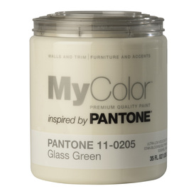 MyColor inspired by PANTONE 35 fl oz Interior Eggshell Glass Green Paint and Primer in One