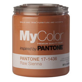 MyColor inspired by PANTONE 35-fl oz Interior Eggshell Raw Sien Water-Base Paint and Primer in One
