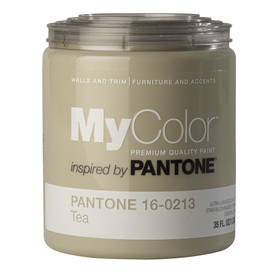 MyColor inspired by PANTONE 35 fl oz Interior Eggshell Tea Paint and Primer in One