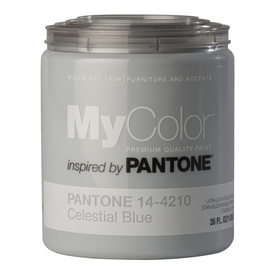 MyColor inspired by PANTONE 35 fl oz Interior Eggshell Celestial Blue Paint and Primer in One