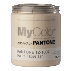 MyColor inspired by PANTONE 35 fl oz Interior Eggshell Pastel Rose Tan Paint and Primer in One