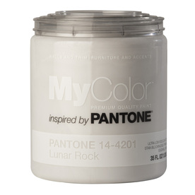 MyColor inspired by PANTONE 35 fl oz Interior Eggshell Lunar Rock Paint and Primer in One