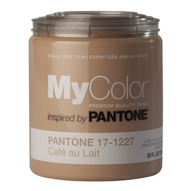 MyColor inspired by PANTONE 35-fl oz Interior Eggshell Cafe Au Lait Water-Base Paint and Primer in One