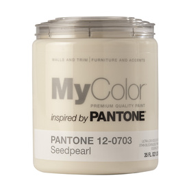 MyColor inspired by PANTONE 35 fl oz Interior Eggshell Seed Pearl Paint and Primer in One