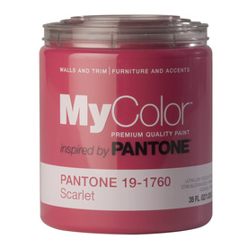 MyColor inspired by PANTONE 35 fl oz Interior Eggshell Scarlet Paint and Primer in One