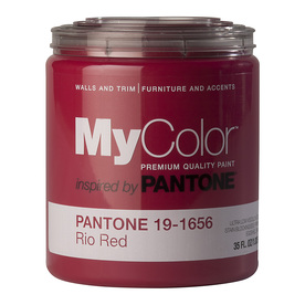 MyColor inspired by PANTONE 35 fl oz Interior Eggshell Rio Red Paint and Primer in One