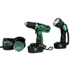 Hitachi 2-Tool 18-Volt Nickel Cadmium (NiCd) Cordless Combo Kit with Hard Case
