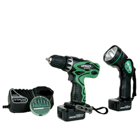 Hitachi 12-Volt 3/8-in Cordless Driver Drill Kit with Flashlight