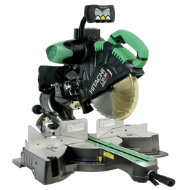 Hitachi 12-in 15-Amp Dual Bevel Sliding Compound Laser Miter Saw