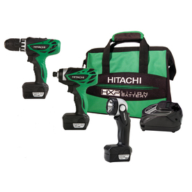 Hitachi 12-Volt Lithium Ion Cordless Combo Kit with Soft Case