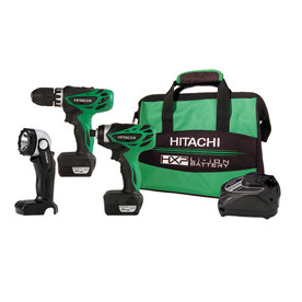 Hitachi 3-Tool 12-Volt Max Lithium Ion Cordless Combo Kit