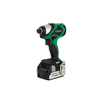 Hitachi 18DB 18-Volt Lithium Ion (Li-ion) 1/4-in Cordless Variable Speed Brushless Impact Driver with Hard Case