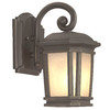 Portfolio Corrigan 10-7/8-in Dark Brass Outdoor Wall Light