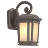 Portfolio Corrigan 13-1/4-in Dark Brass Outdoor Wall Light