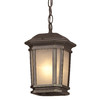 Portfolio Corrigan 11-in Dark Brass Outdoor Pendant Light