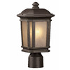 Portfolio Corrigan 14.12-in H Dark Brass Post Light