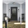 Portfolio Cabaray 17.25-in H Dark Brass Post Light