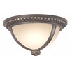 Portfolio Cabaray 11-in Dark Brass Outdoor Flush-Mount Light