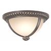 Portfolio Cabaray 11-in W Dark Brass Outdoor Flush-Mount Light